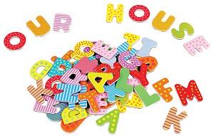 Lelin Toys - Magnetisch Alfabet - Hoofdletters - 60 stuks