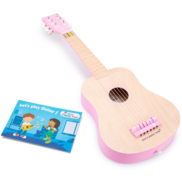 New Classic Toys - Gitarre - DeLuxe - Natur/Rose