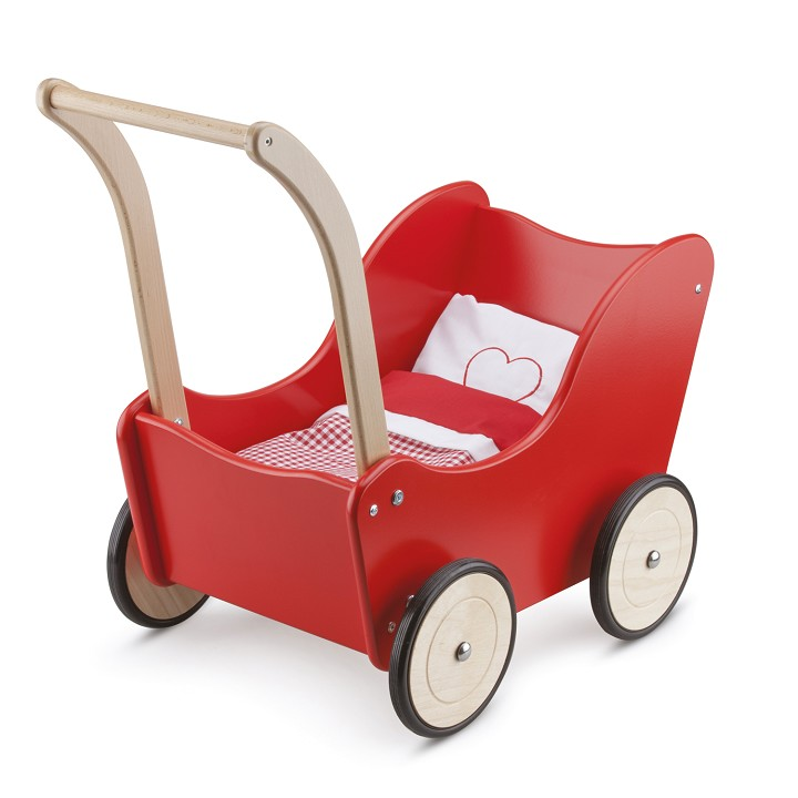 New Classic Toys - Puppenwagen - Rot - inkl. Bettgarnitur