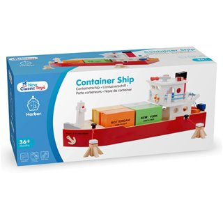 New Classic Toys - Containerschiff mit 4 Containern
