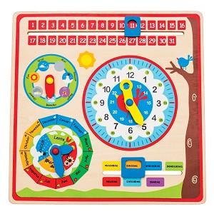 New Classic Toys - Kalender Uhr - Sprache: NL