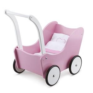 New Classic Toys - Puppenwagen - Pink - inkl. Bettgarnitur